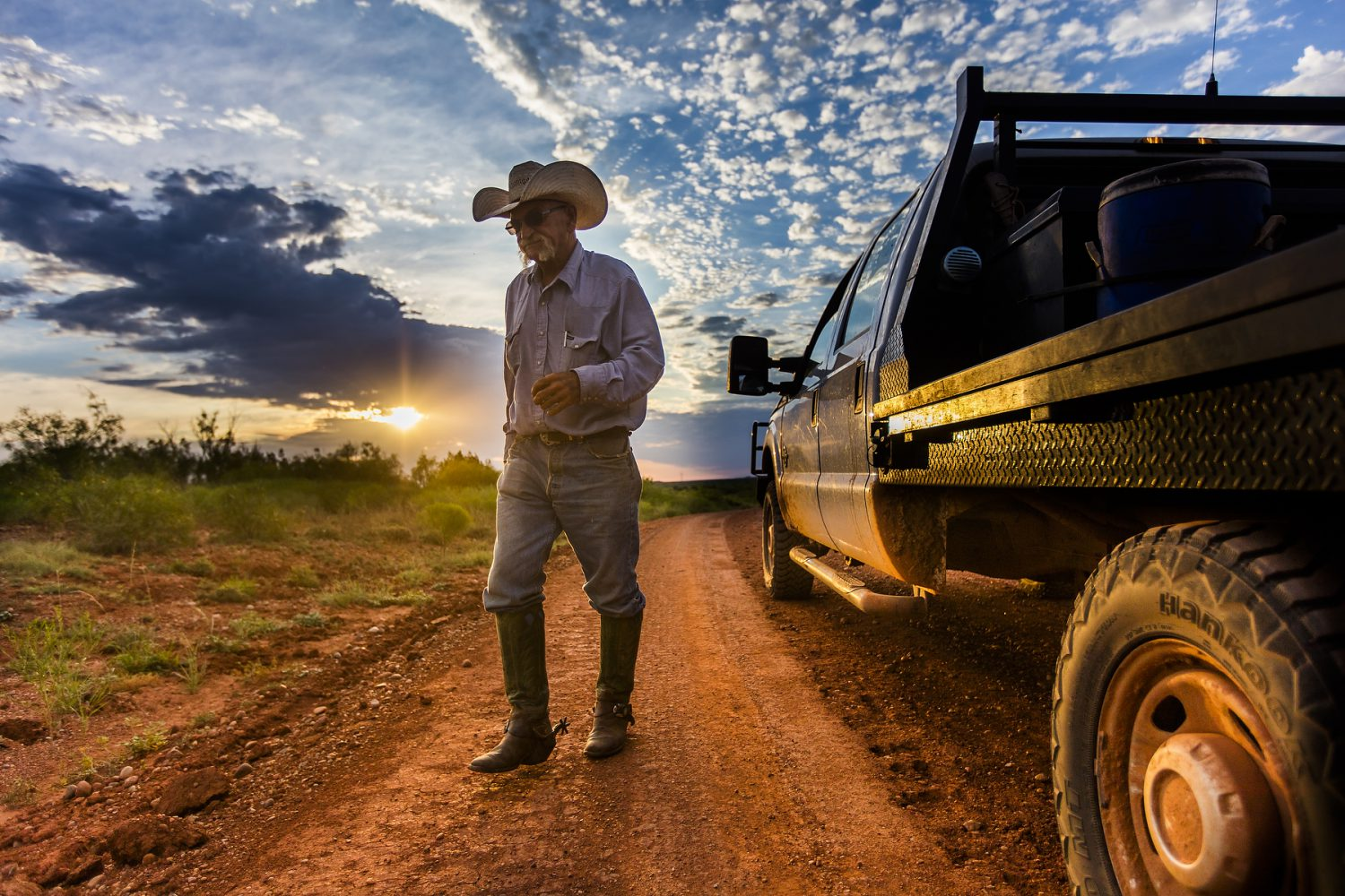 New portrait of Jimbo Glover from the Waggoner Ranch