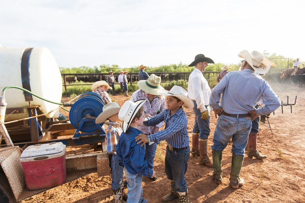 Kids on the Waggoner Ranch work hard