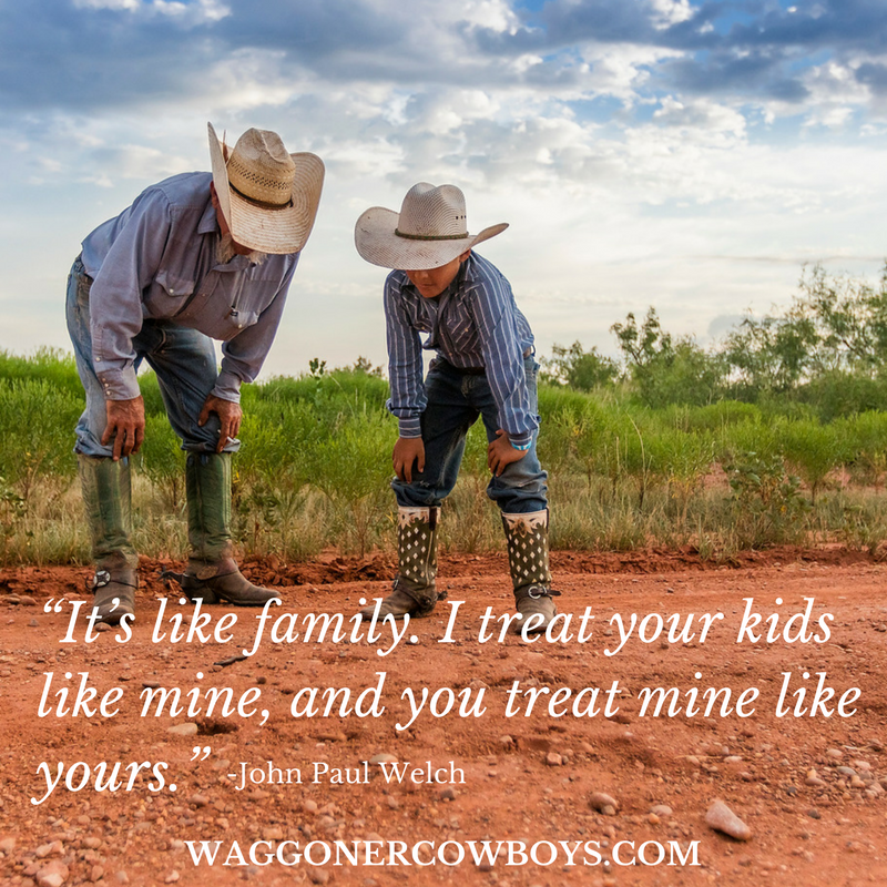 Cowboy quotes from Waggoner Ranch cowboys in North Texas