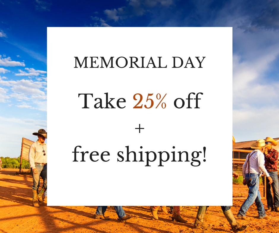 this memorial day take 25% off cowboys of the waggoner ranch today only