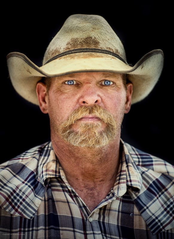 Portrait of Waggoner Ranch cowboy John Paul Welch by Jeremy Enlow
